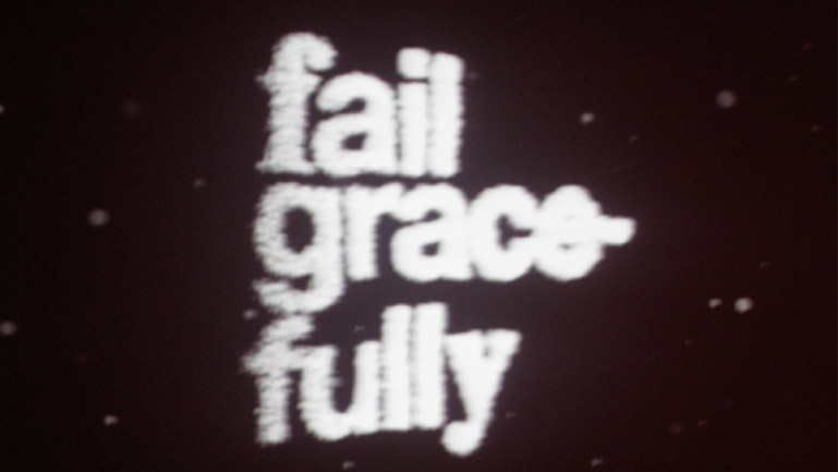Slogan del OFFF Oeiras 2009: fail gracefully