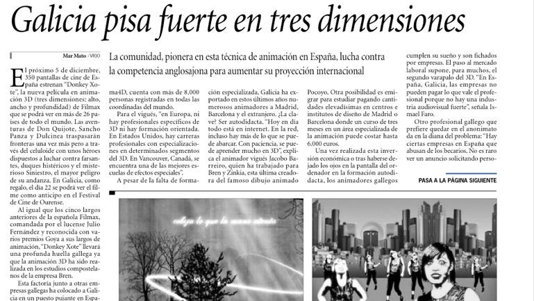 Fragmento del reportaje de Faro de Vigo