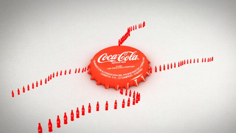 Styleframe. Este plano representa el flujo de Cocacola desde su origen.