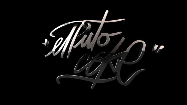Firma de El Puto Coke realizada en CG con acabados cromados por Duplo.