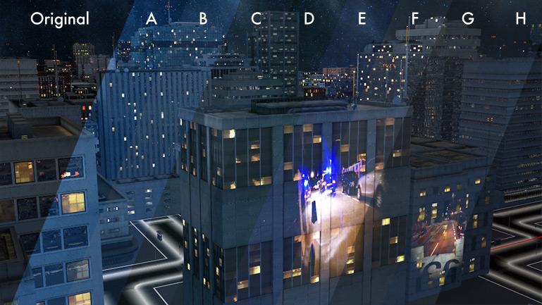Paleta de variaciones de color propuestas al cliente, dentro de su directriz de línea Azul noche americana.