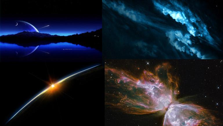 Referencias estéticas y conceptuales al cosmos utilizadas por Duplo en el proyecto.