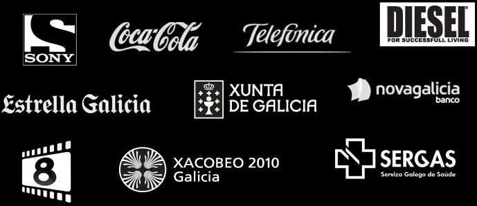 Sony Entertainment Television, Coca-Cola Company, Telefónica, Diesel, EStrella Galicia, Xunta de Galicia, Novagalicia Banco, OMadrid TV, Xacobeo Galicia, Sergas