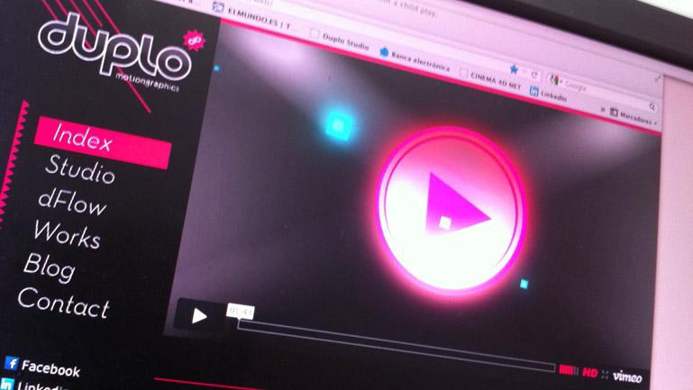Imagen de la nueva sede web de Duplo (2012)